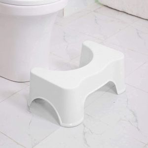 SPICOM Toilet Squatty Step Stool   Perfect Posture Plastic Squat Potty Toilet Stool   for Western Toilets Scientific Angle   Relieves Constipation   Anti-Slip   Piles Relief  Bathroom Step Up Stool