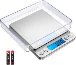 SPICOM Digital Pocket Scales, High Precision Food and fruits weighing, Stainless Steel with LCD Display, Battery Operated,