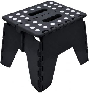 SPICOM Small Folding Step Stool Small Kitchen Step Tool for Kids Adults Lightweight Space Saving Easy Folding Stool Portable Foot Stool