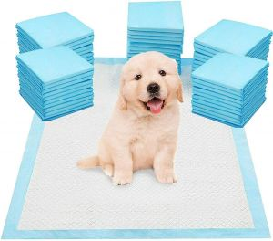 SPICOM Pet Training Pads Dog Pee Leak-Proof Mats - Super Absorbent Protection Blue Disposable Fast Drying Pee Mats for Dogs, Cats, Rabbits Pets Anti Slip Leakproof