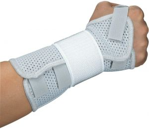 Spicom Breathable Wrist Support Brace Splint with Adjustable Velcro Straps for Carpal Tunnel Joint, Arthritis, Tendonitisand Sprains (Left, XL)