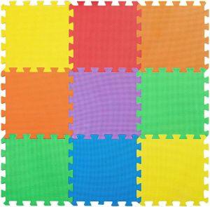 SPICOM 18 Interlocking Eva Soft Foam Play Mat Set of 30cm x 30cm for Activity Play Kids Baby Soft Mat Tiles