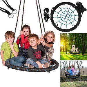 60cm Kids Giant Outdoor Garden Nest Rope Swing Seat Tree Spider Net Mesh Toy