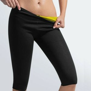 SPICOM Hot Body Shaper Pants Thermo Neoprene Slimming Sweat Pant Waist Trainer With Neotex