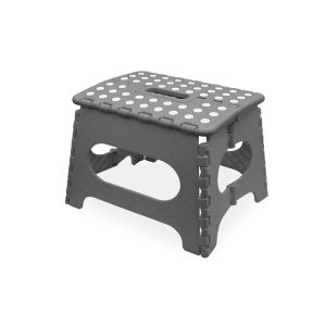 SPICOM Folding Step Stool Strong Heavy Duty Skid Resistant Stool For Kids & Adults Medium Size H29 x L27 x W22 CM (Grey) Stool   Fold Table   Kitchen Stool   bath Stool   Kids Stool   Folding Stool